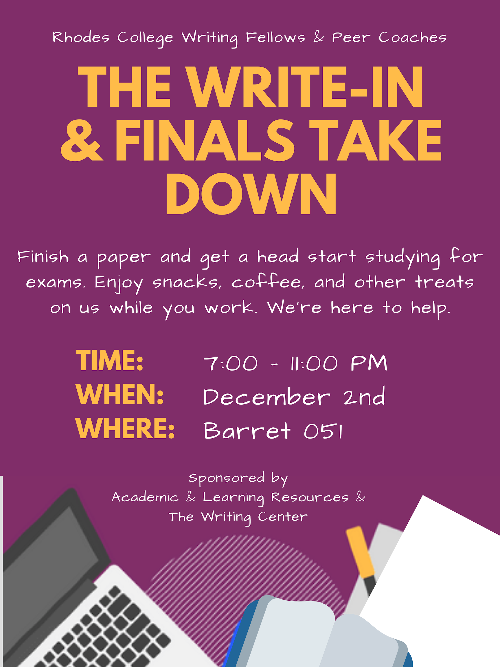 The Write-In & Finals Take Down | Rhodes College