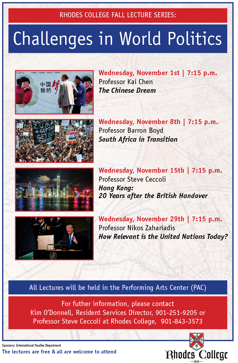 Poster advertising past fall lecture series