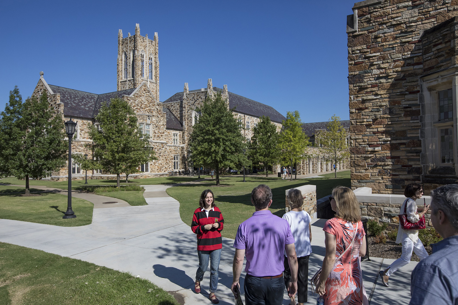 Campus tour of Rhodes College