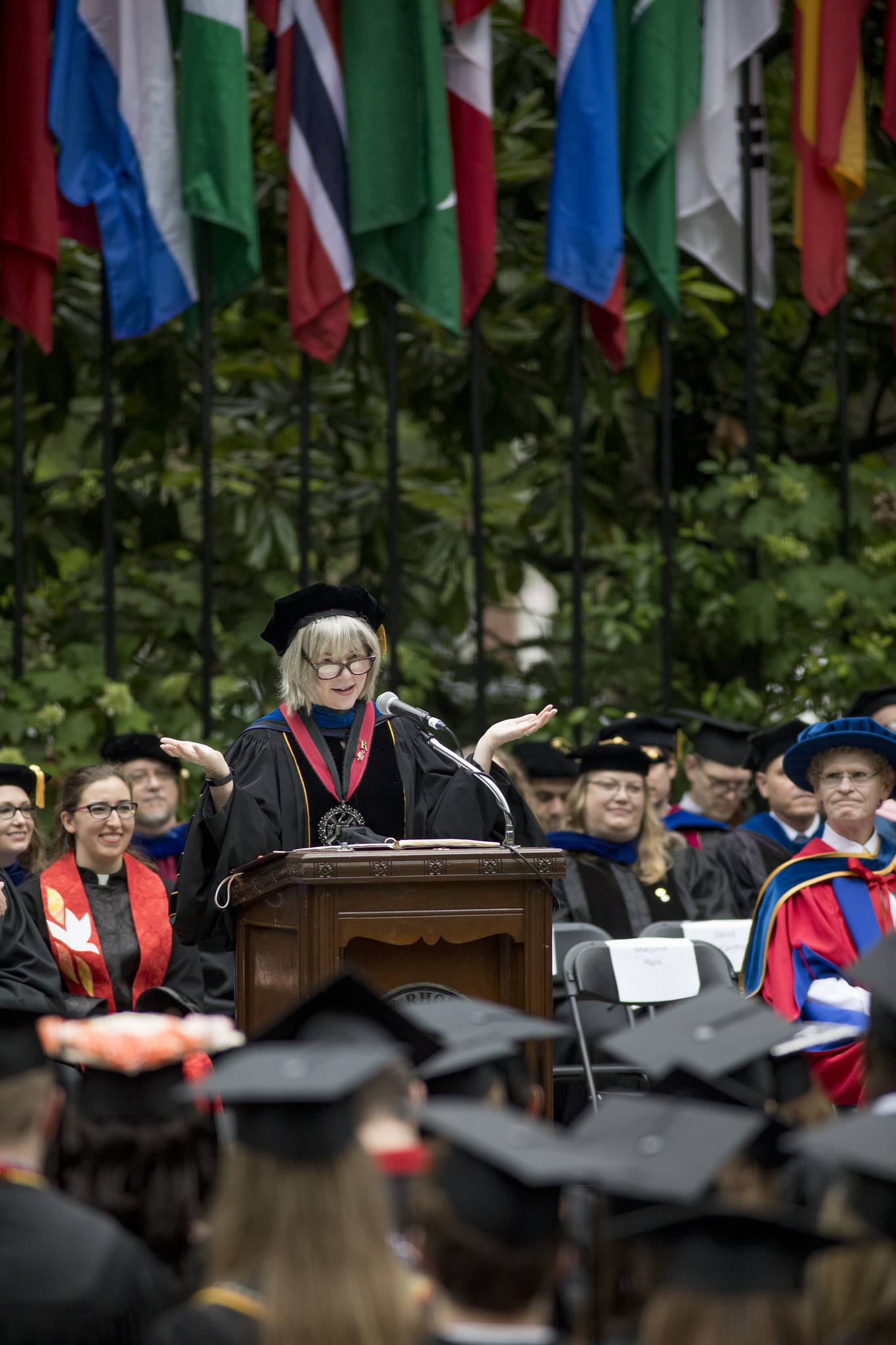 President Hass at Commencement