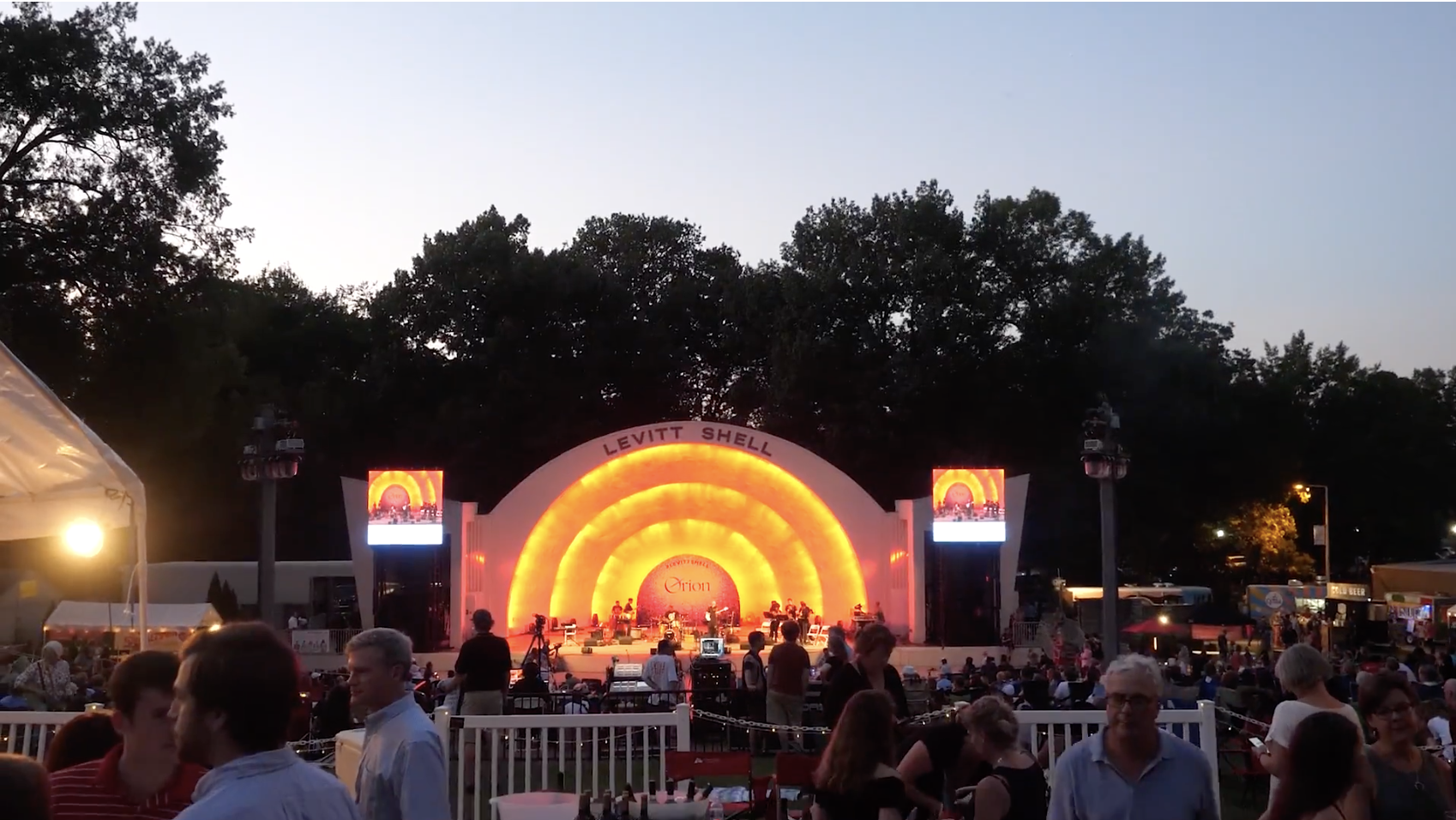 Jazz Concert in Levitt Shell in Overton Park