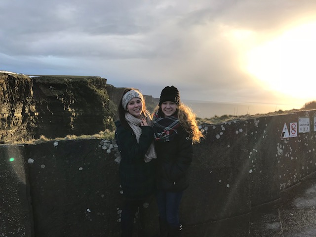 Olivia and friend in Ireland