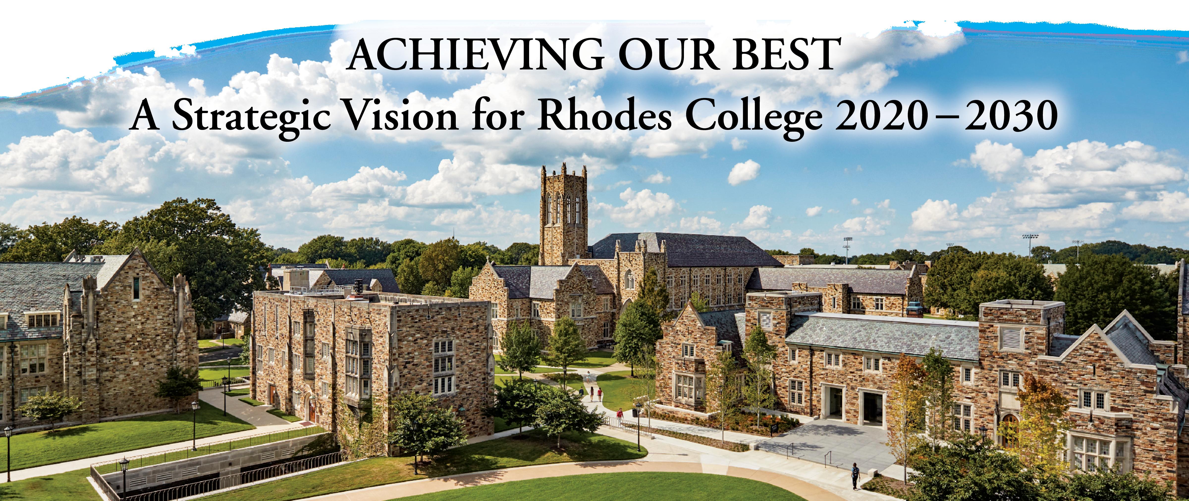 Rhodes College Graduation 2020.Strategic Plan Rhodes College