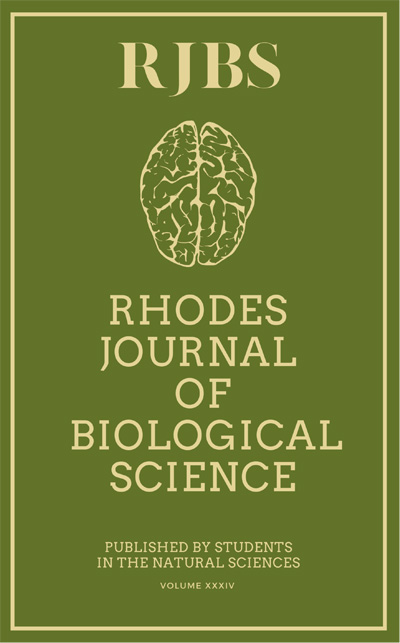cover of Rhodes Journal of Biological Sciences