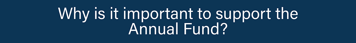Why is it important to support the Annual Fund?