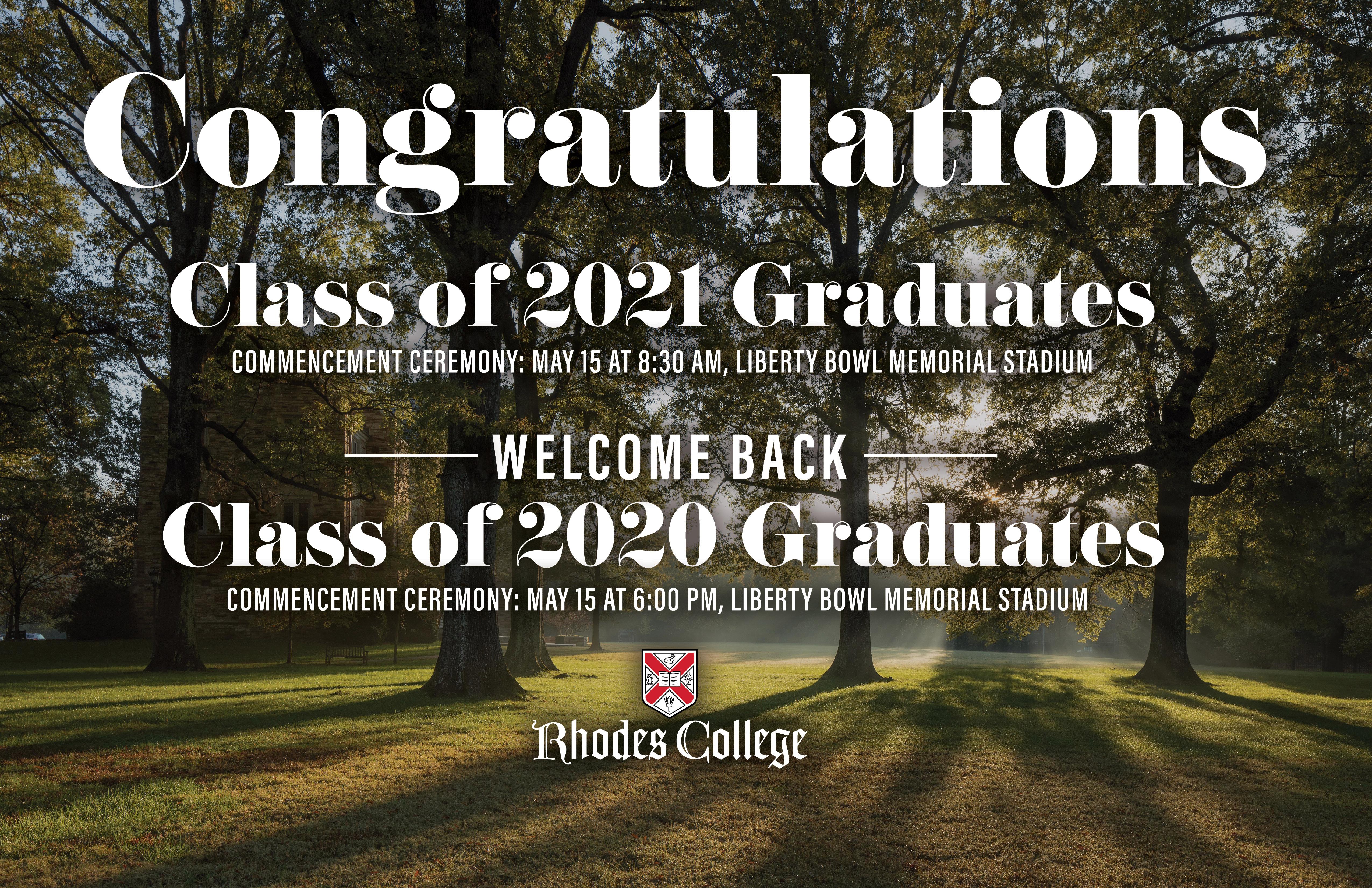 Rhodes College Calendar 2022.Spring 2021 Commencement Rhodes College