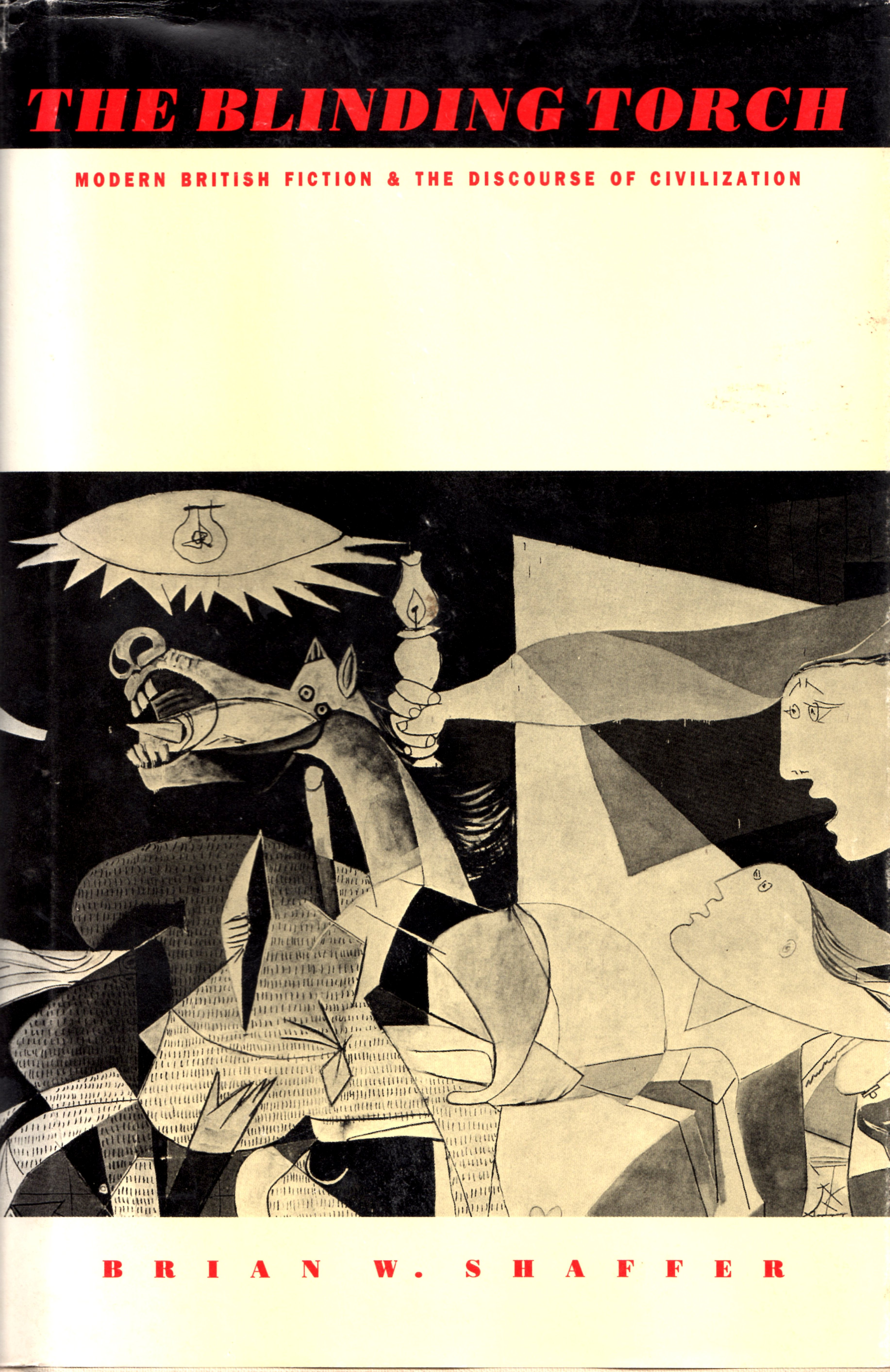 "bok cover featuring a detail from Picasso's ""Guernica"""