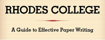 "book cover with the words ""A Guide to Effective Paper Writing"""