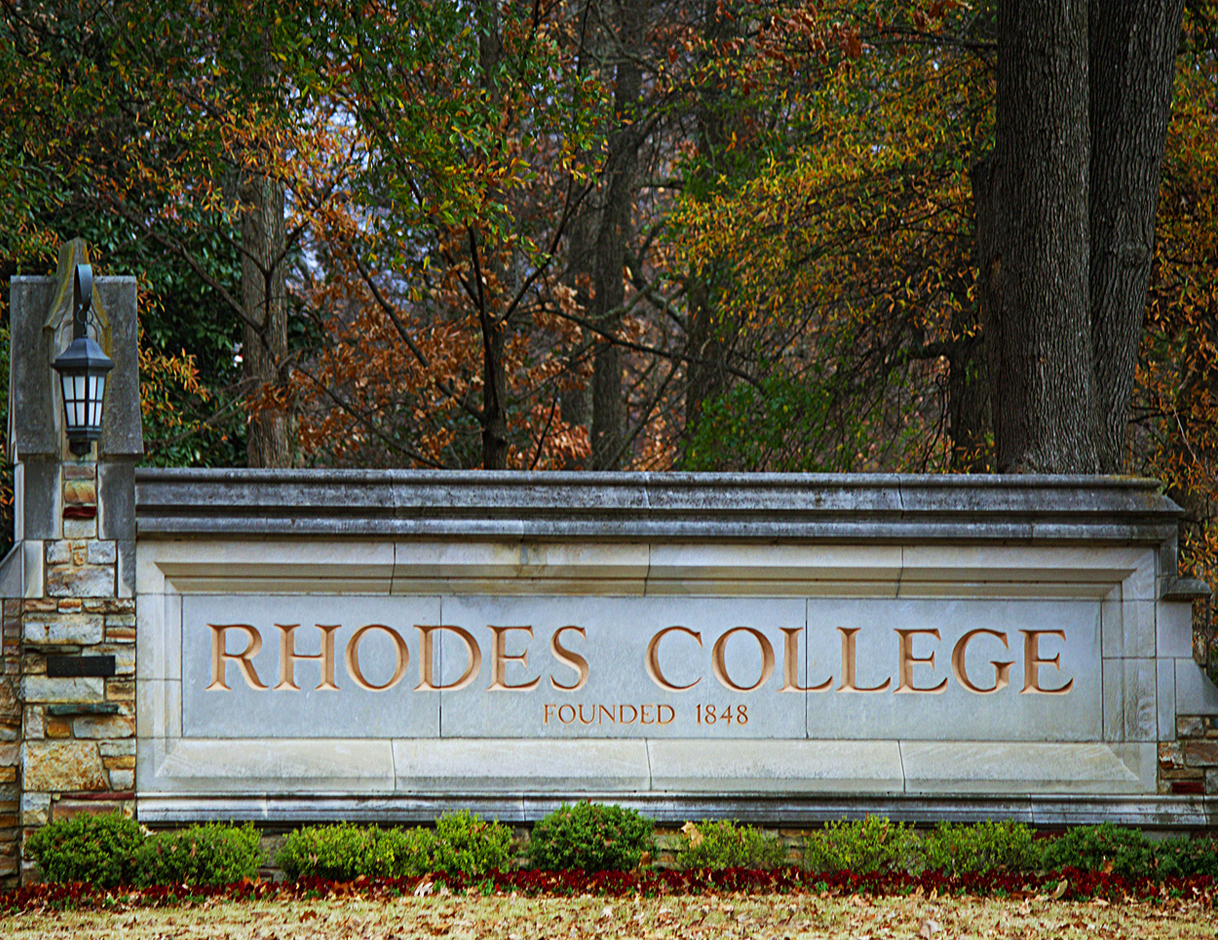 Rhodes College Sign