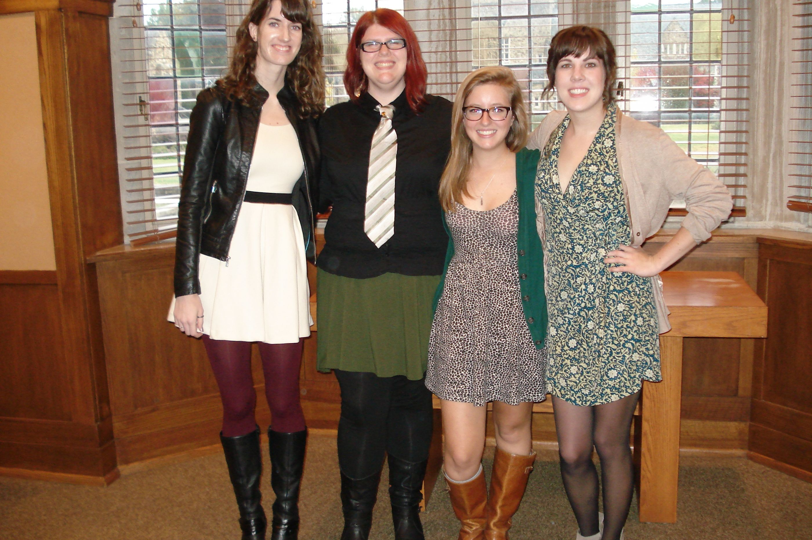 2013 induction ceremony, four female students