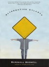 book cover that shows a man with arms outstretched and his face covered by a yellow road sign