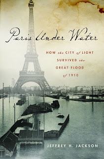 book cover featuring the Eiffel Tower surrounded by a flood