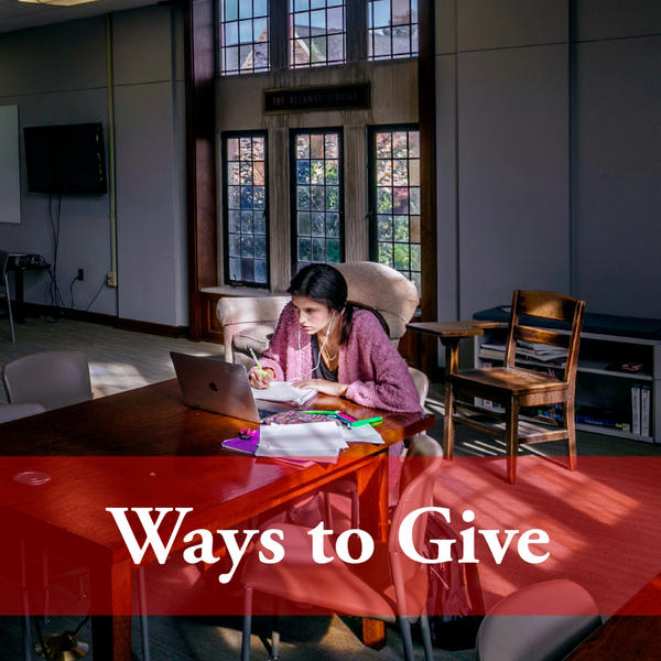 Ways to Give to Rhodes College