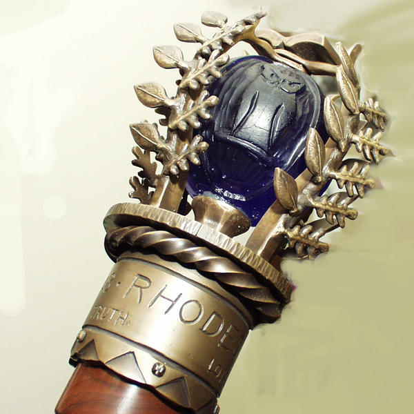 An ornate scepter
