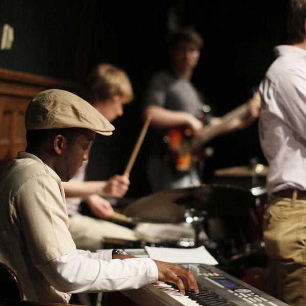 students playing jazz